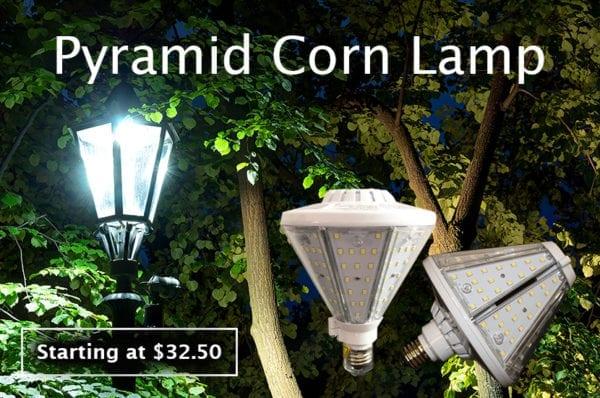 LED pyramid corn lamp