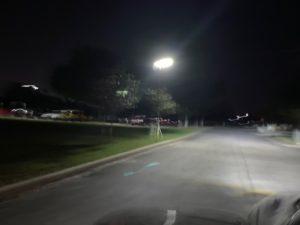 Solar LED Street Lights at night